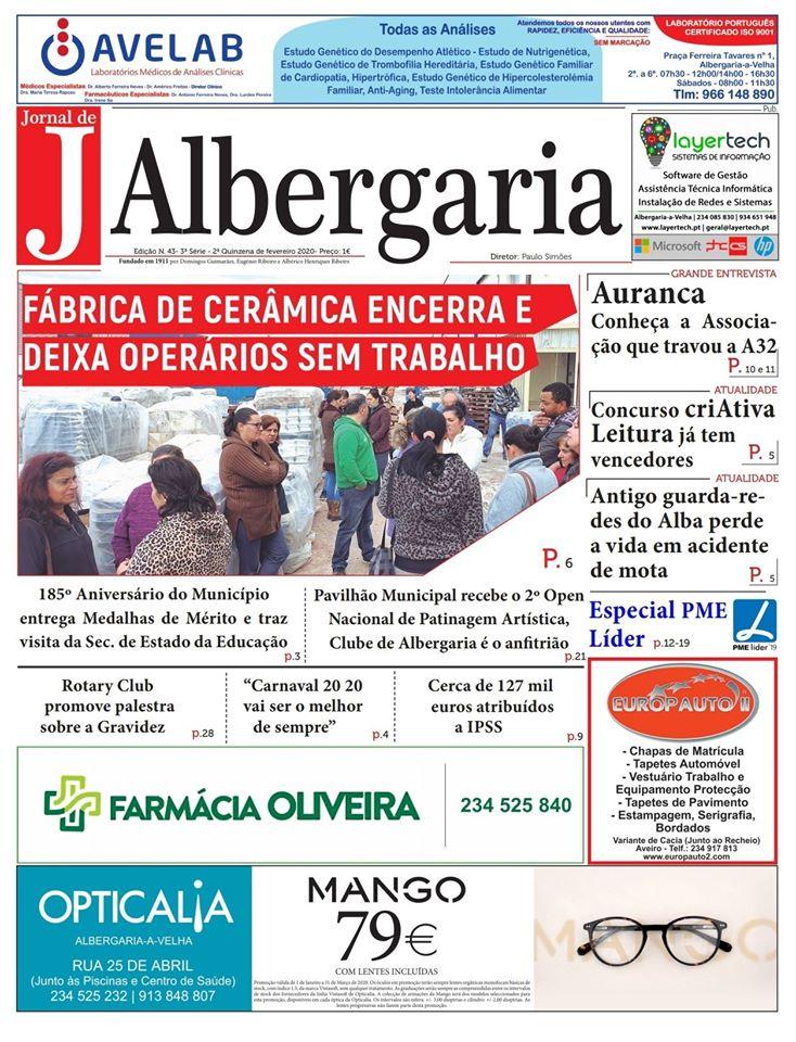 Jornal de Albergaria – Edição 43 Já nas bancas
