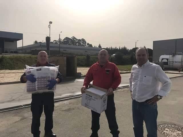 Bombeiros de Albergaria recebem equipamentos de proteção individual